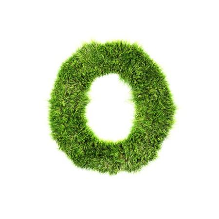 Grass letter - o