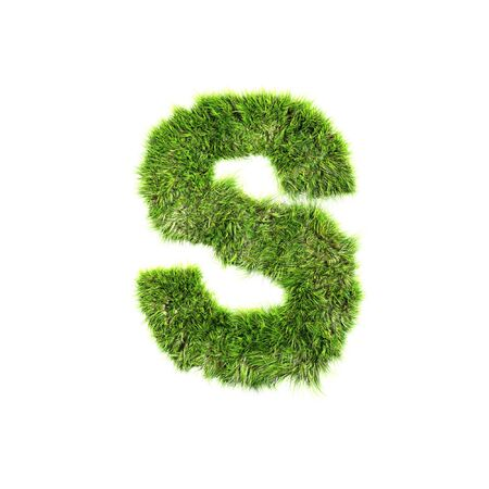 Grass letter - s Stock Photo