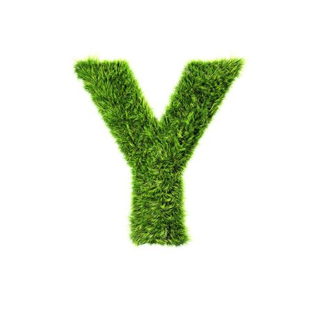 Grass letter - y Stock Photo