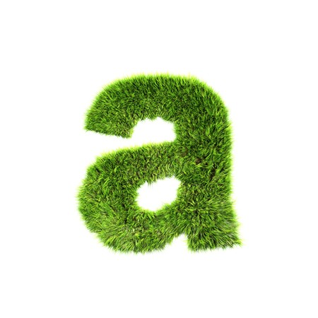 lower: grass lower-case letter - a Stock Photo