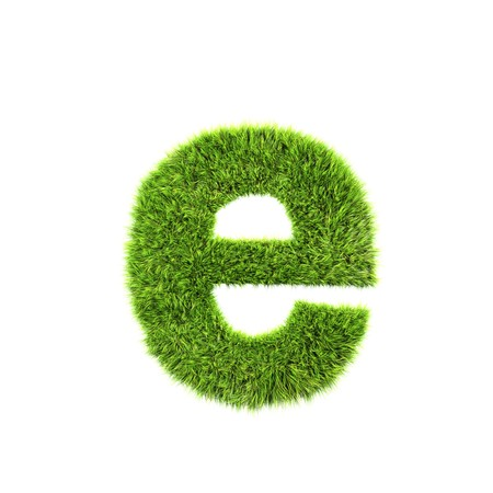 grass lower-case letter - e Stock Photo