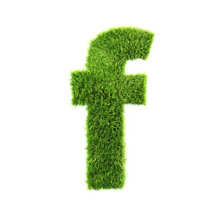 grass lower-case letter - f photo