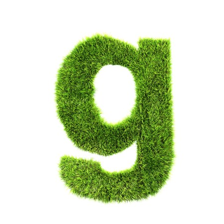 grass lower-case letter - g