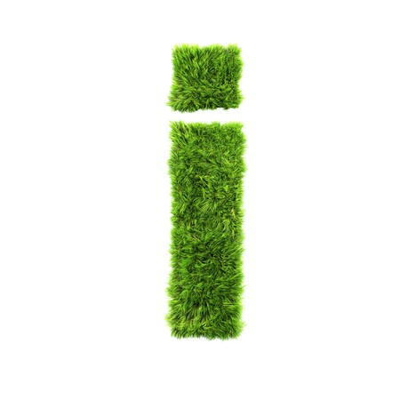 lower case: grass lower-case letter - i Stock Photo