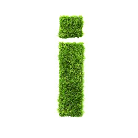 grass lower-case letter - i Stock fotó