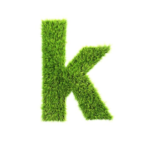 grass lower-case letter  - K