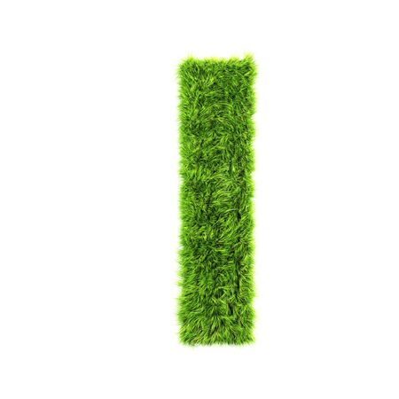 grass lower-case letter  - L