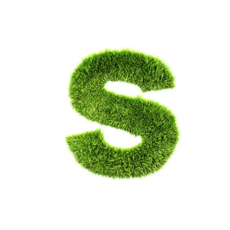 grass lower-case letter - s Stock Photo