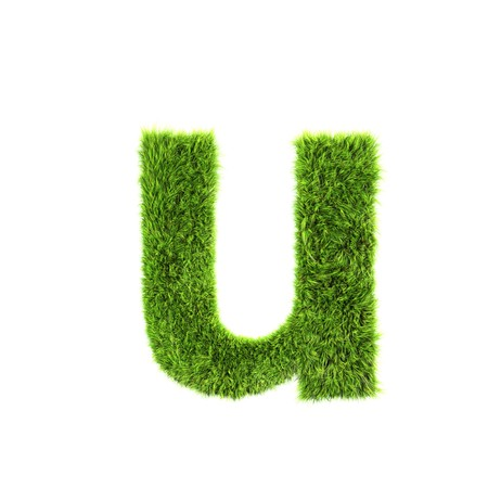 grass lower-case letter - u