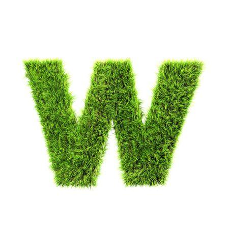 lower case: grass lower-case letter - w