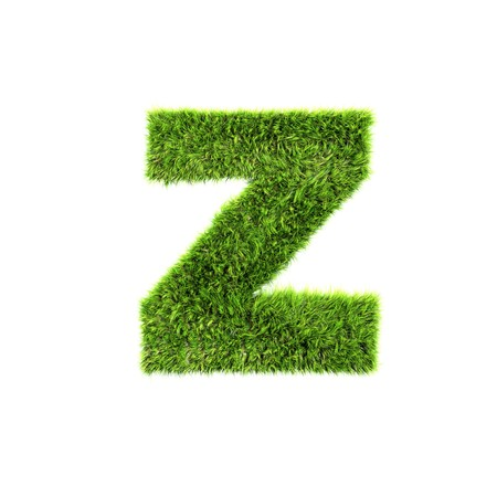 grass lower-case letter - z photo