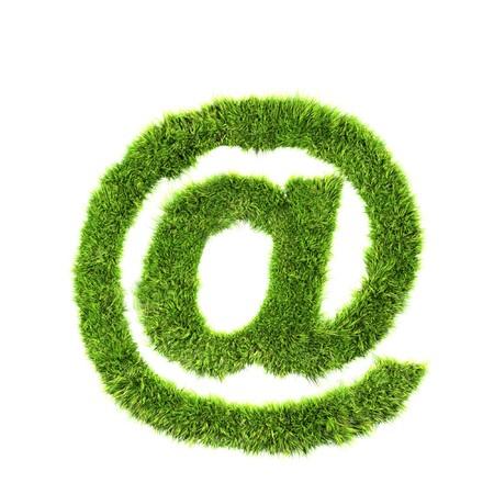 grass mail sign photo