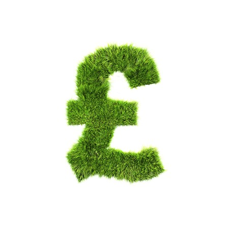 grass pound sign Stock Photo - 7488117