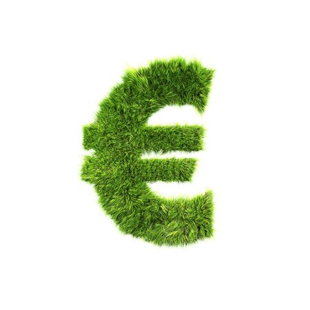 Grass euro sign photo