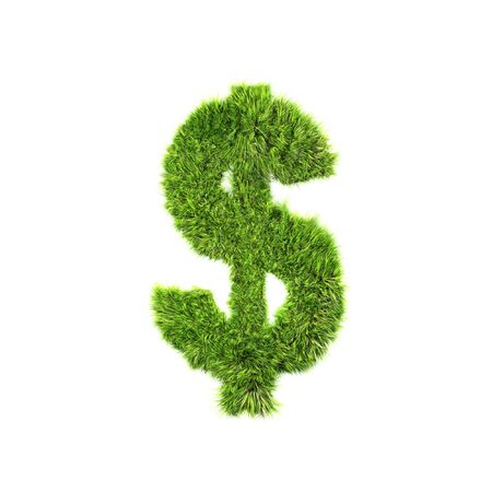 Grass currency sign - Dollars photo
