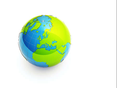 3d green earth photo