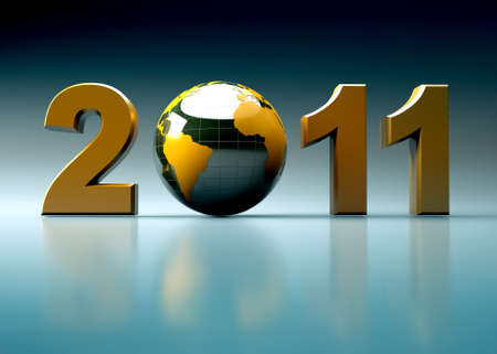 3d new year 2011 illustration illustration