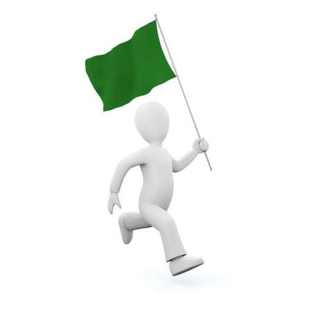 Holding a lybian flag photo