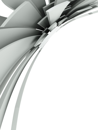 3d abstract architectural background photo
