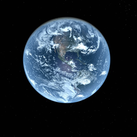 3d Earth Model with black background
