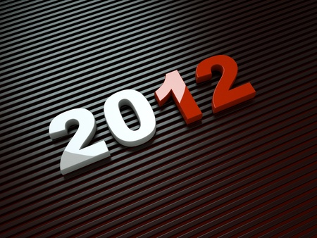 3d new year 2012 Stock Photo - 11545838