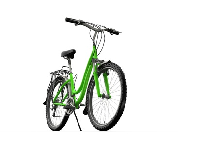 handle bars: 3D mountain bike on a white background