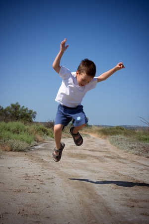 happy jumping child photo