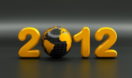 3d new year 2012 shape photo