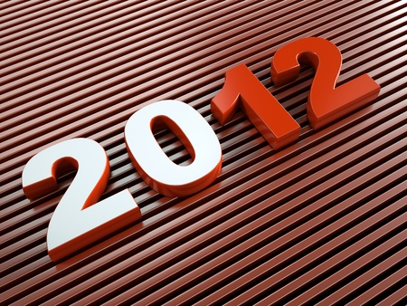 3d new year 2012 Stock Photo - 11568053