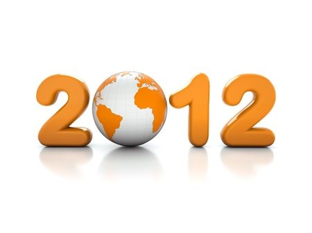 New year 2012 - 3d Illustration - illustration