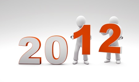 3d new year 2012 Stock Photo - 11568074