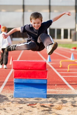 brave: Long Jump Stock Photo