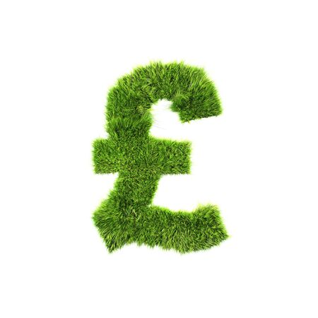 grass currency isolated on a white background photo