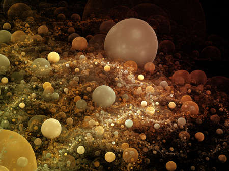 colorful soft planets floating in deep space photo