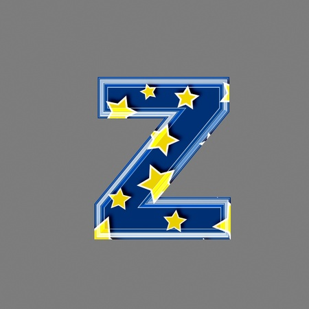 3d letter with star pattern - Z photo