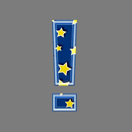3d exclamation point with star pattern photo