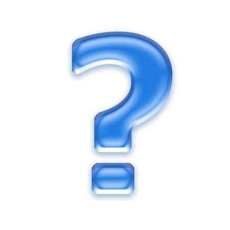 point d interrogation: Point d'interrogation Aqua isol� sur un fond blanc