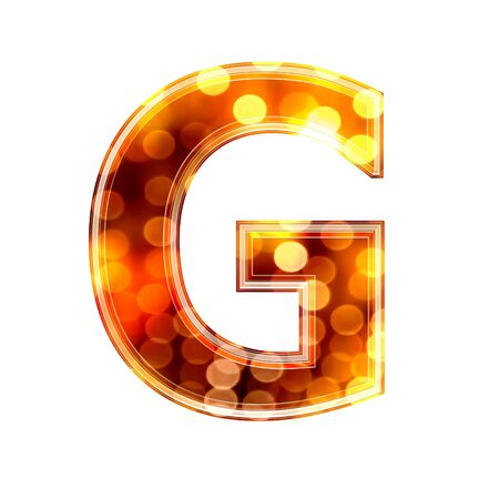 g spot: 3d letter with glowing lights texture - G