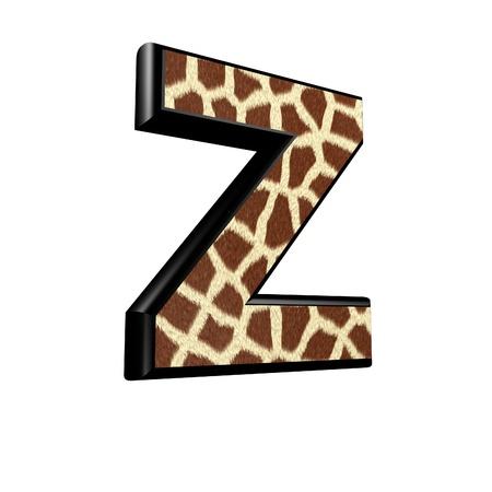 3d letter with giraffe fur texture - Z photo