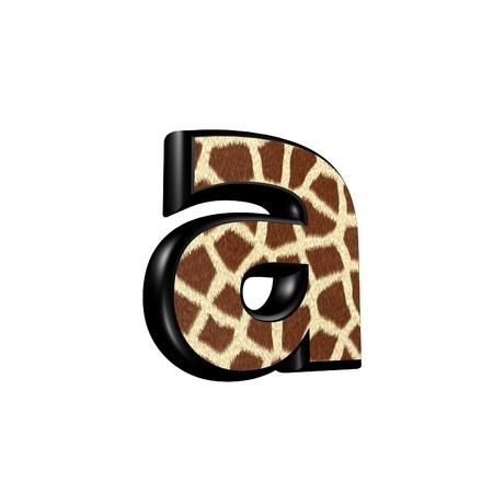 3d letter with giraffe fur texture - a photo