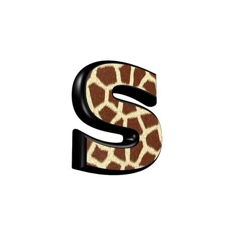 3d letter with giraffe fur texture - s Stock Photo - 11905112