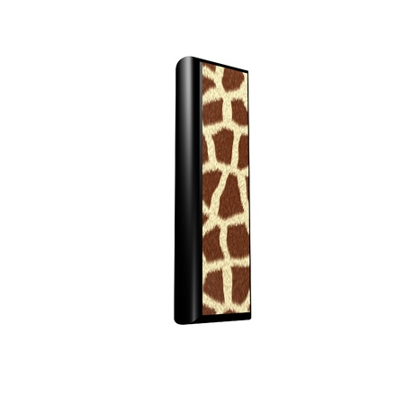 3d letter with giraffe fur texture - l photo
