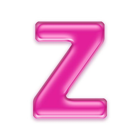 osx: pink jelly letter isolated on white background - Z Stock Photo
