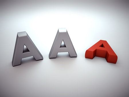 business background - losing AAA notation Stock Photo - 11994678