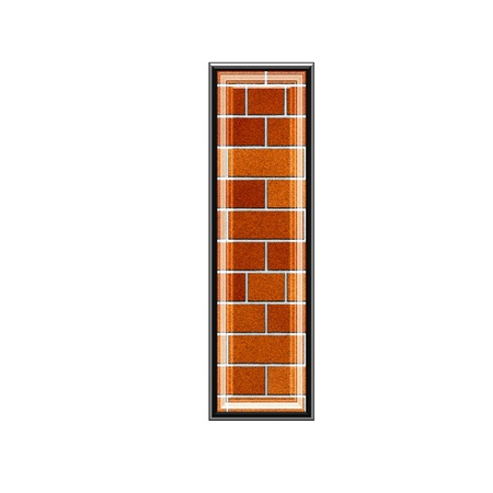 upper: abstract 3d letter with brick wall texture - I