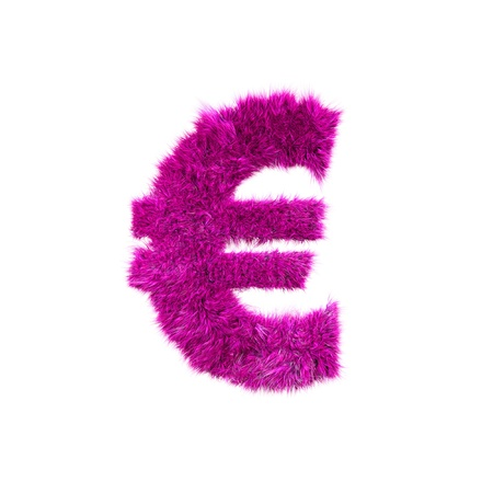 Pink grass currency sign - Euro Stock Photo - 12070524