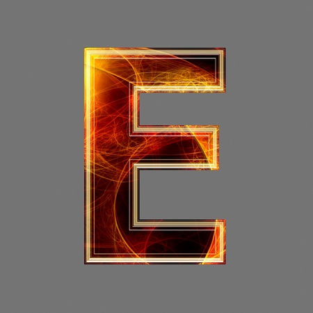 3d abstract and futuristic letter - E