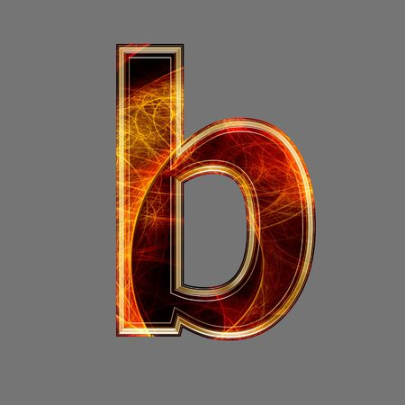 lower: 3d abstract and futuristic letter - b