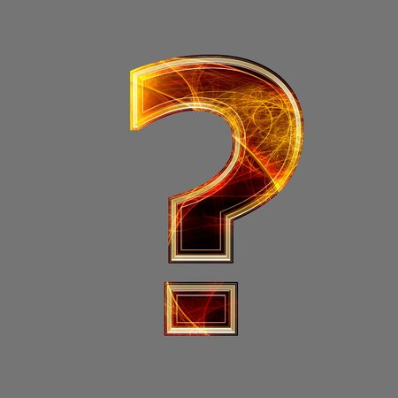 point d interrogation: 3d point d'interrogation abstraite et futuriste