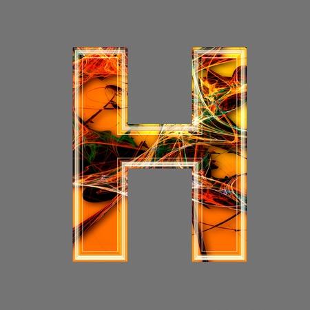 futuristic 3d letter h photo
